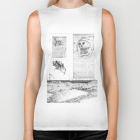 newspaper Biker Tanks featuring Death's newspaper booth by Art Pass