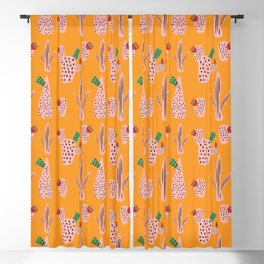 Mid Mod Cactus Yellow Blackout Curtain