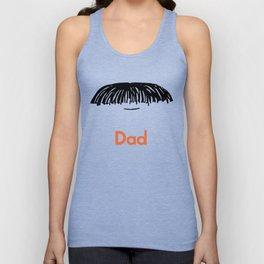 Dad Moustache Unisex Tank Top