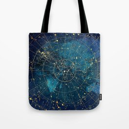 Star Map :: City Lights Tote Bag