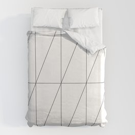 Inverted Triangles by Friztin Duvet Cover