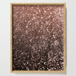 Rose Gold Glitter #1 #sparkling #decor #art #society6 Serving Tray