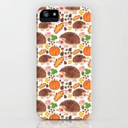 Autumn Hedgehog iPhone Case