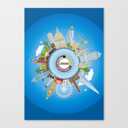 ALL AROUND LONDON - COLOUR Canvas Print