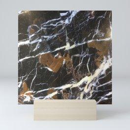 Stylish Polished Black Marble Mini Art Print