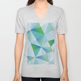 Ice Shards abstract geometric angles pattern Unisex V-Neck