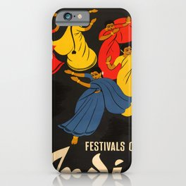 retro Festivals of India old psoter iPhone Case