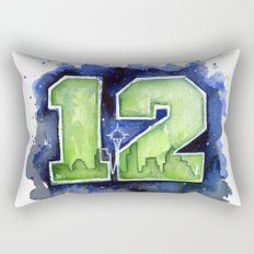 12th Man Seahawks Seattle Go Hawks Art Rectangular Pillow