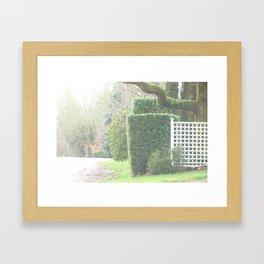 Street Greenery Framed Art Print