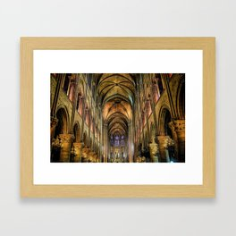 Notre Dame de Paris interior Framed Art Print