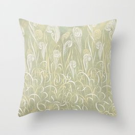 Winter Sage Grass Throw Pillow