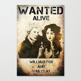 William and Thia: Wanted Poster Canvas Print