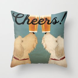 Doodle Goldendoodle Labradoodle Schnoodle Whoodle Beer Dog Throw Pillow
