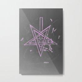 Unholy in Pink Sigil Metal Print