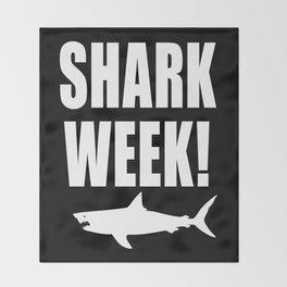 Shark week (on black) Throw Blanket