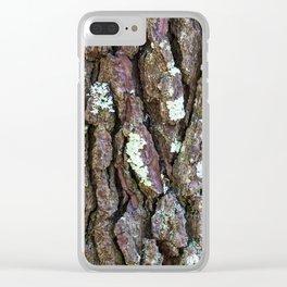 Pine tree bark IV Clear iPhone Case