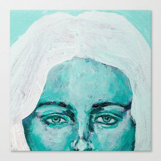 Mint Girl Canvas Print