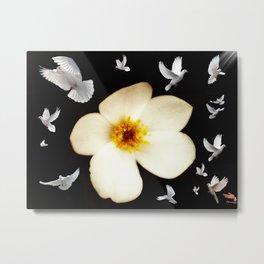 Exploding doves Metal Print