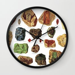 Vintage Gems And Minerals Wall Clock