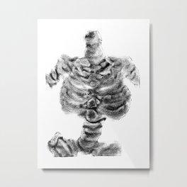 Monoprint Skeleton 2 Metal Print