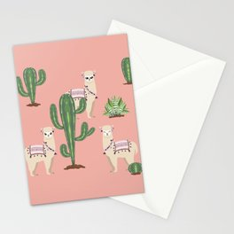 Alpaca with Cacti Stationery Cards
