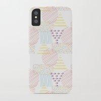 memphis iPhone & iPod Cases featuring Memphis geométrico by Flor Tate
