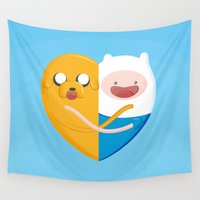 best friends Wall Tapestries featuring Best friends  by Manfred Maroto