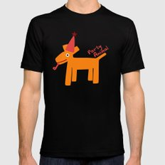 Party Animal-Orange Black MEDIUM Mens Fitted Tee