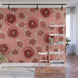 Figs - Pomegranate - coral Wall Mural