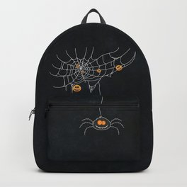 Halloween Spider on Web Backpack