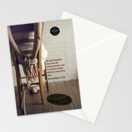 Proverbs 5:22 Stationery Cards