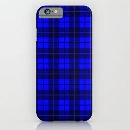 Cobalt Plaid iPhone Case