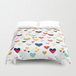 cheerful hearts Duvet Cover