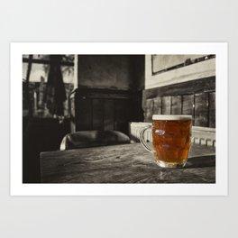 Pint in a Jug  Art Print
