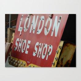London Shoe Shop Canvas Print