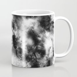 Black and White Tie Dye & Batik Coffee Mug