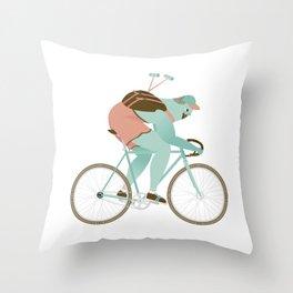 Biker guy Throw Pillow