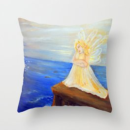 Invite your Angel | Angels are here Throw Pillow