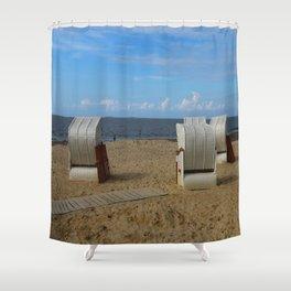 Beach Life in Autumn Shower Curtain