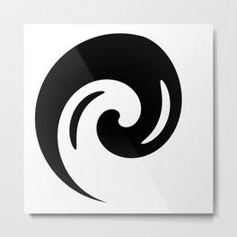 Yin Yang Exagerated Metal Print