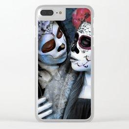 Beso de la Muerta Clear iPhone Case