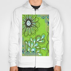 Green Flower Hoody
