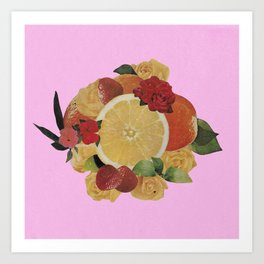 Pink Fruit Art Print