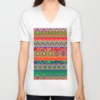 bohemian V-neck T-shirts featuring Bohemian Style by Diego Tirigall