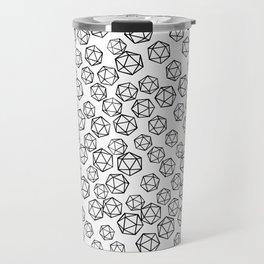 D20 Pattern - B&W Travel Mug
