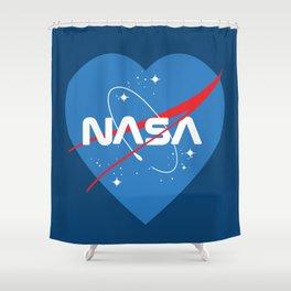 NASA Love Shower Curtain