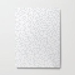 White Cubism Metal Print