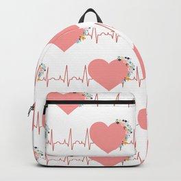 Flower ECG Hearts Backpack