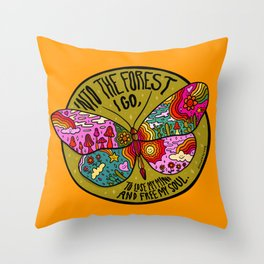 Into the Forest Throw Pillow