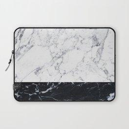 Marble Black & White Laptop Sleeve